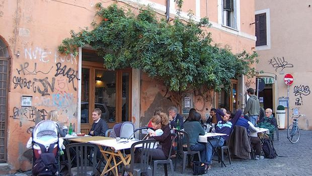 One of the best restaurants in Rome - D'Augusto, Trastevere district.